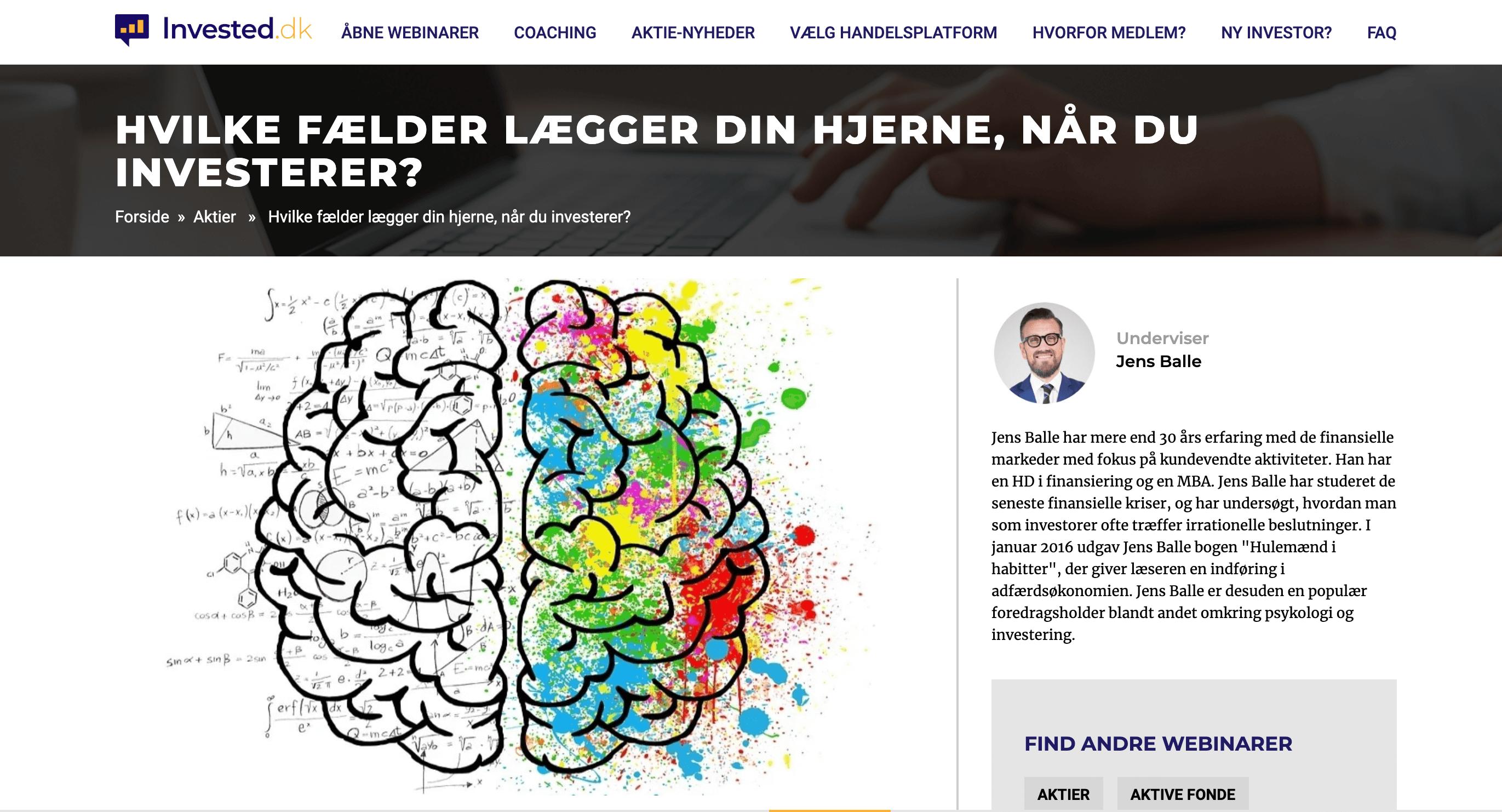 Investorpsykologi på invested.dk – GRATIS