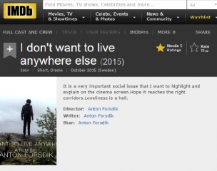 I Dont Want To Live Anywhere Else a film by Anton Forsdik