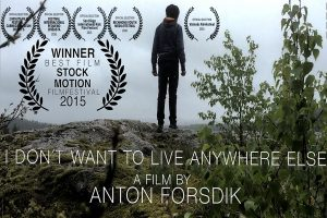 I don't want to live anywhere else a film by Anton Forsdik. Jag vill inte leva någon annanstans. Stockmotion vinnare