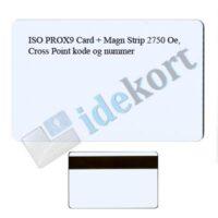ISO PROX9 kort Magnet Stribe 2750 Oe Cross Point kode og nummer