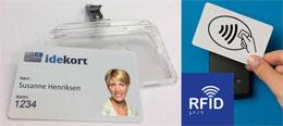 id-kort med id kortholder adgangskort