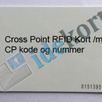 Cross Point RFID kort med cp code og nummer