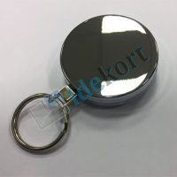 Kraftig Metal nøgle yoyo 52mm m wire & nøglering krom_krom