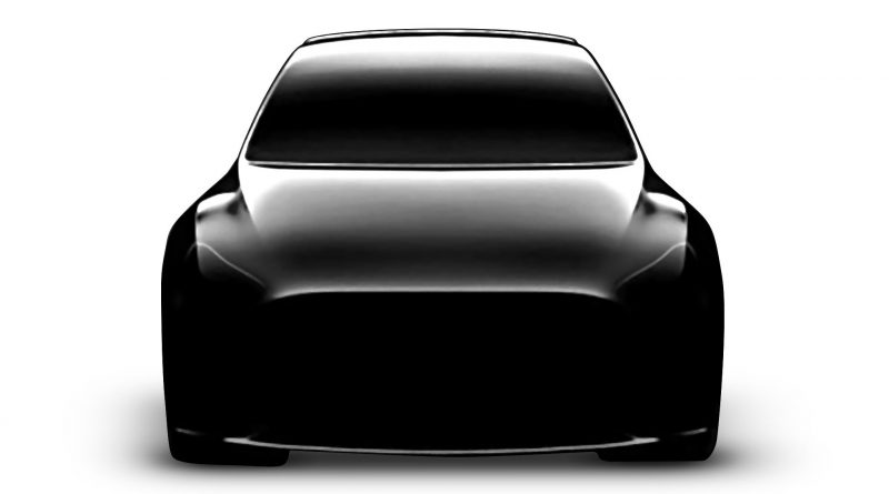 door Tesla vrijgegeven foto rond hoe de Model Y er zou kunnen uitzien