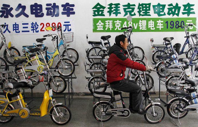 Chinese elektrische fietsen worden duurder