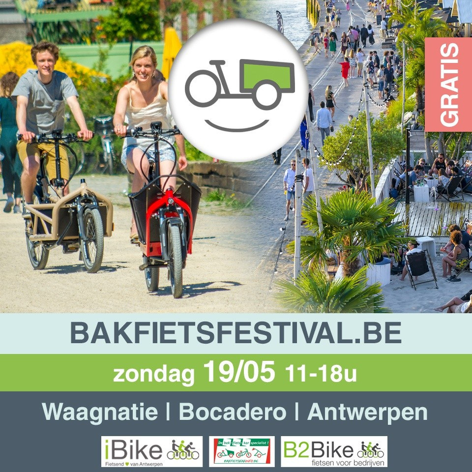 banner bakfietsfestival in Antwerpen