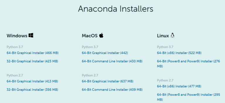 Anaconda Python Download Versionen