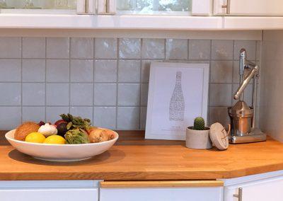 Homestyling kök innan visning och foto