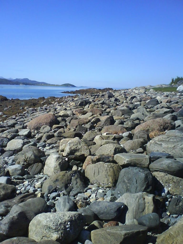 The rocks that was the inspiration for the design Granite by Aud B