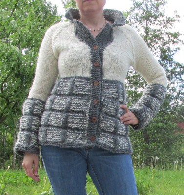 The knitted jacket Granite.