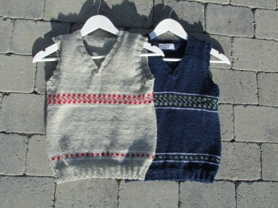 Pattern site for the knitted vest Boy.