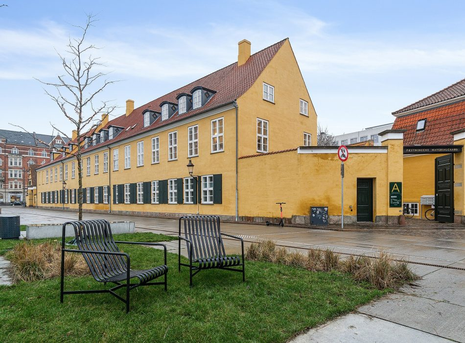 BloxHUB (Fæstningens Materialgård) in Copenhagen. It's a listed building. Contains acoustic solutions from Intelligent Space.
