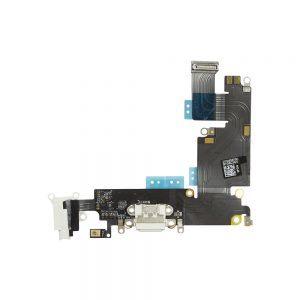 iPhone 6 Plus Ladekontakt Og Audio Jack Flex Kabel - Hvit