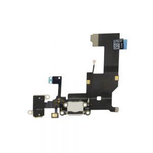 iPhone 5 Ladeport, Mikrofon og Audio jack Flex Kabel - Hvit