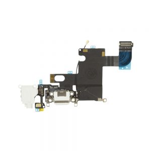 iPhone 6 Ladeport, Mikrofon og Audio Jack Flex Kabel (Hvit)