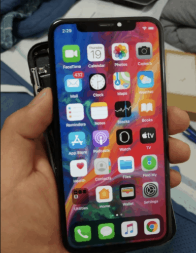iPhone X skjerm OLED og Touch photo review