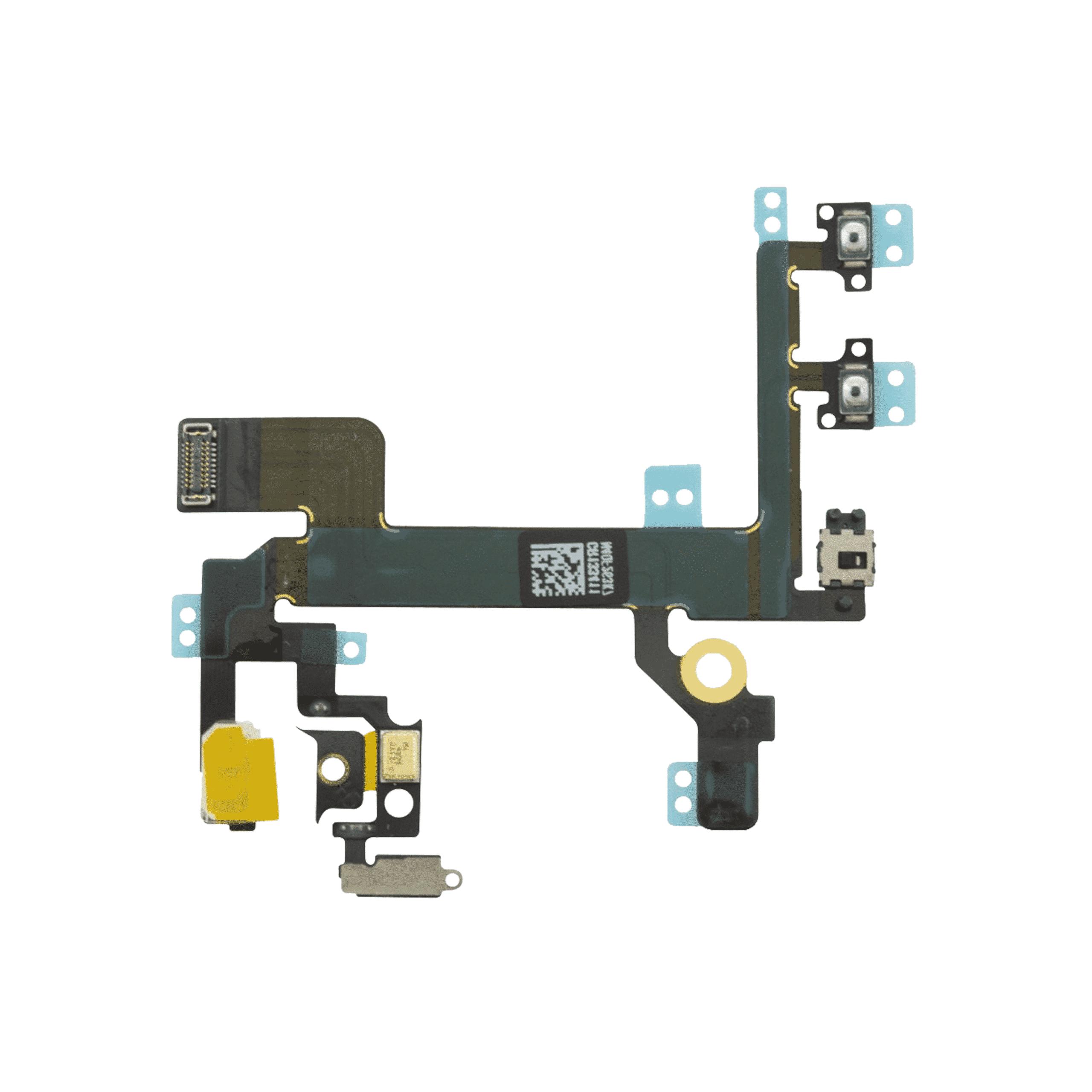 iPhone 5s Ladeport, Mikrofon, Audiojack Flex Kabel Hvit