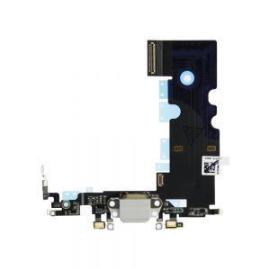 iPhone 8 Ladekontakt Flex Kabel Hvit