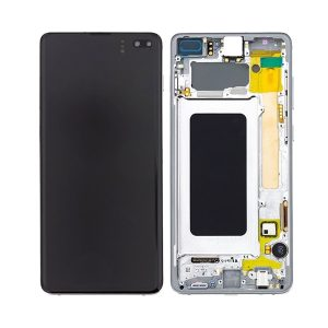 Samsung Galaxy S10 skjerm - Hvit