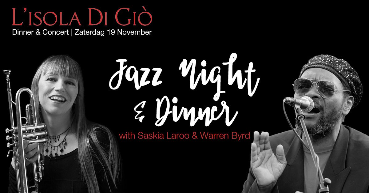 Jazz Night – Dinner & Concert – Zaterdag 19 November 2016