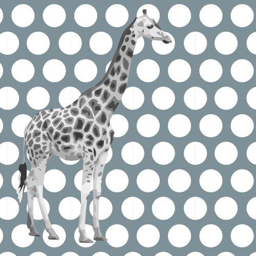 Circular blue Giraffe