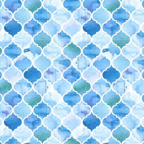 maroccan blue watercolours
