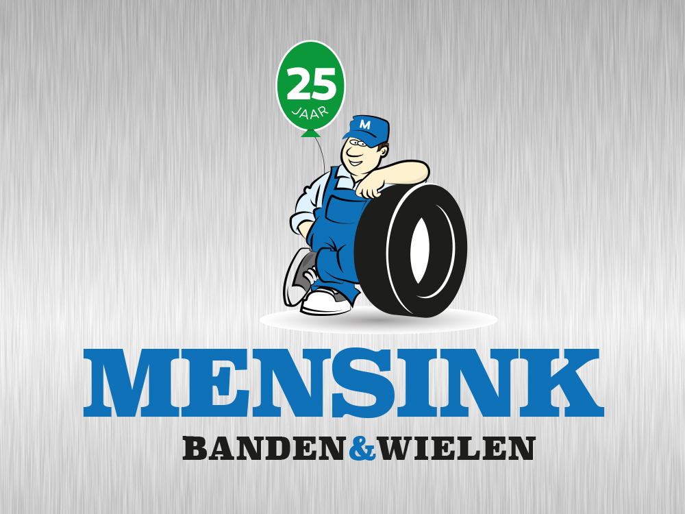 ontwerp logo mensink banden en wielen Nieuw Vennep