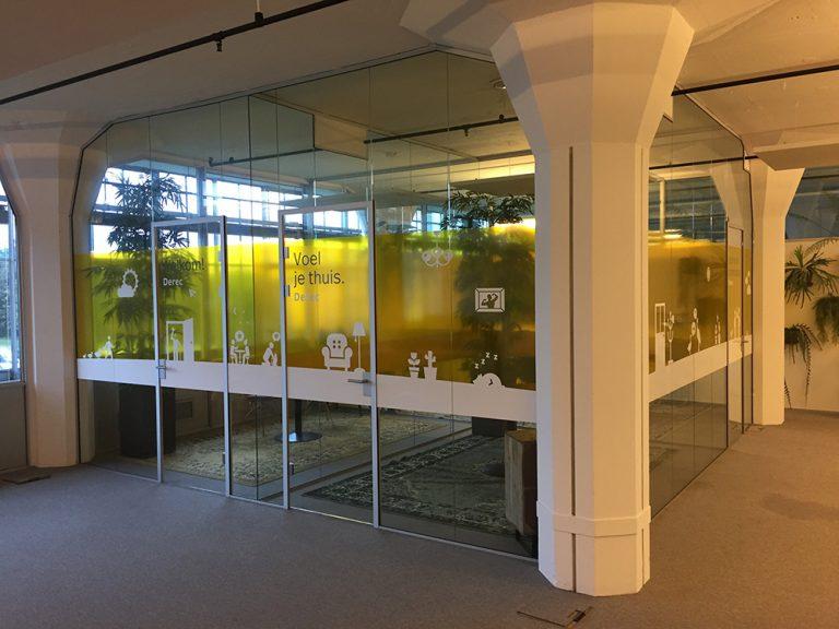 folie transparant folie kantoor glaswand
