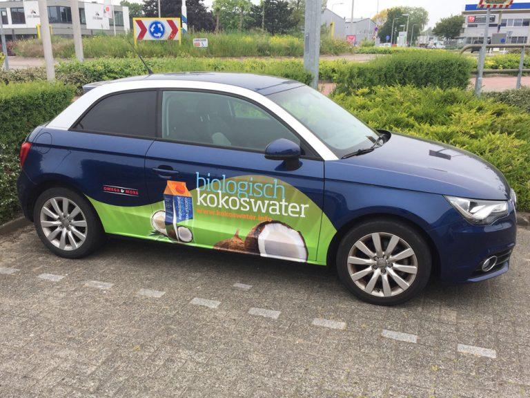 full colour print autobelettering kokoswater Roelofarendsveen