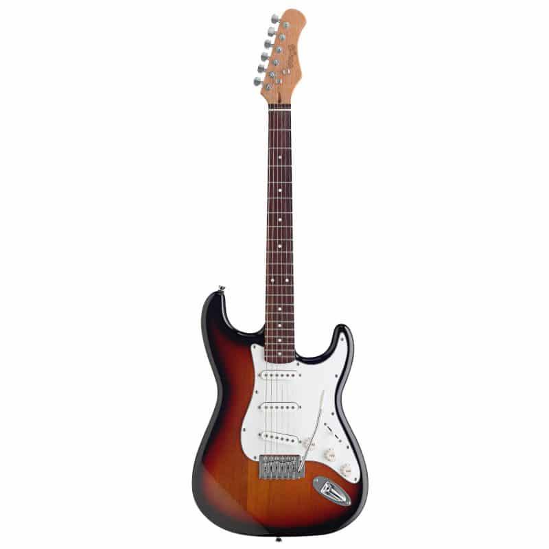 STAGG Surfstar startpaket med sunburst elgitarr