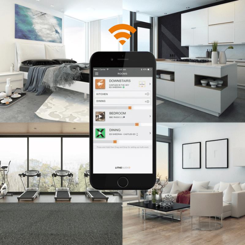 Lithe Audio WiFi Allt-i-ett Multi-rum takhögtalare