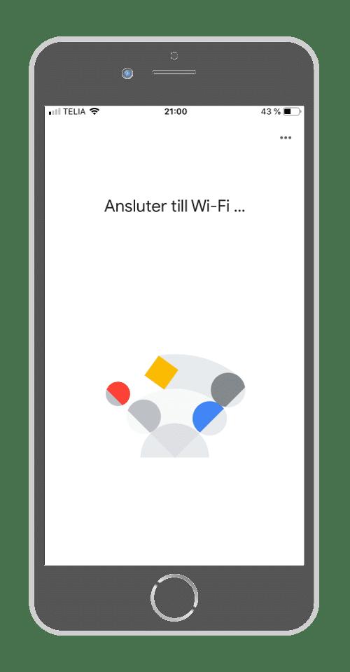 Google Home - Ansluter till Wi-fi