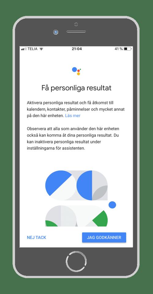 Google Home - Personliga resultat