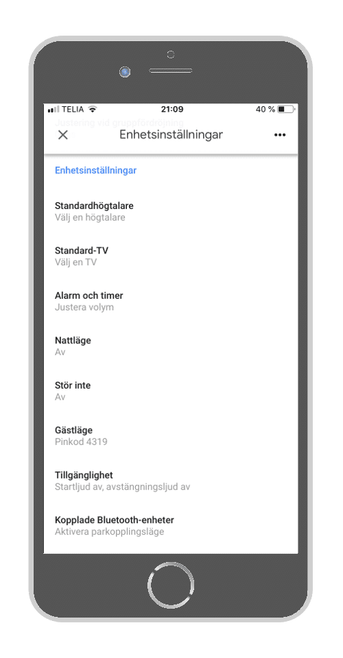Google Home - Välj standardhögtalare