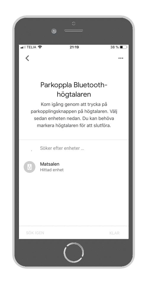 Google Home - Parkoppla Bluetooth-högtalaren