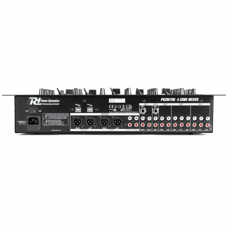 PDZM700 6 kanaler installationsmixer