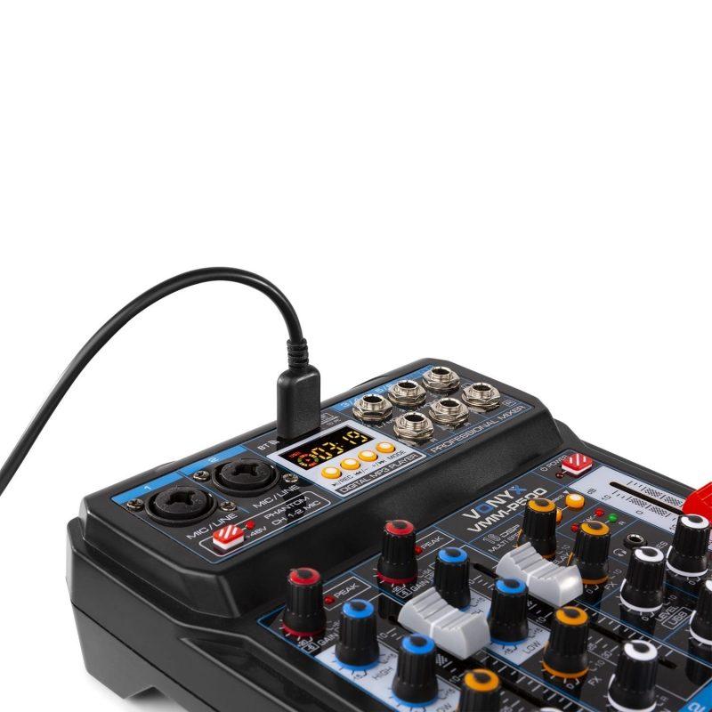 VONYX VMM-P500 4 kanals-mixer USB