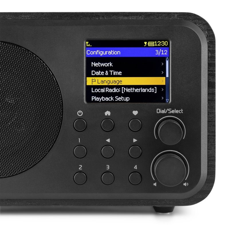 Venice WiFi Internet Radio Bluetooth Svart