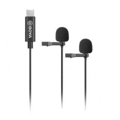BOYA BY-M3D Dubbla Digitala Slipsmikrofoner för Android