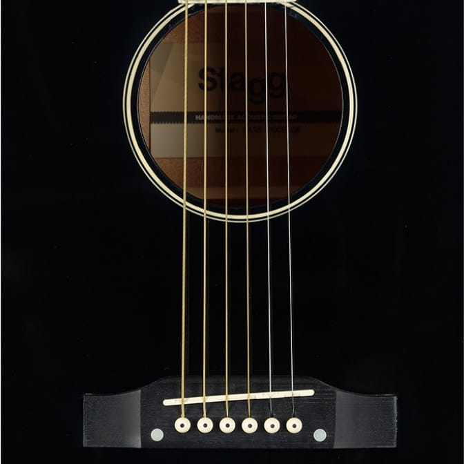 STAGG SA35 DSCE BK Dreadnought gitarr
