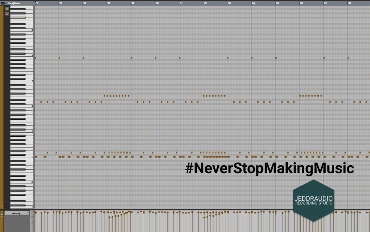 Virtuele Drums Midi Editor
