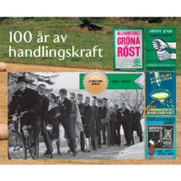 100 år av handlingskraft. Omslagsbild.