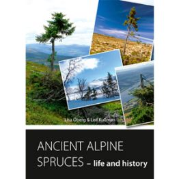 Ancient alpine spruces – life and history. Cover image.