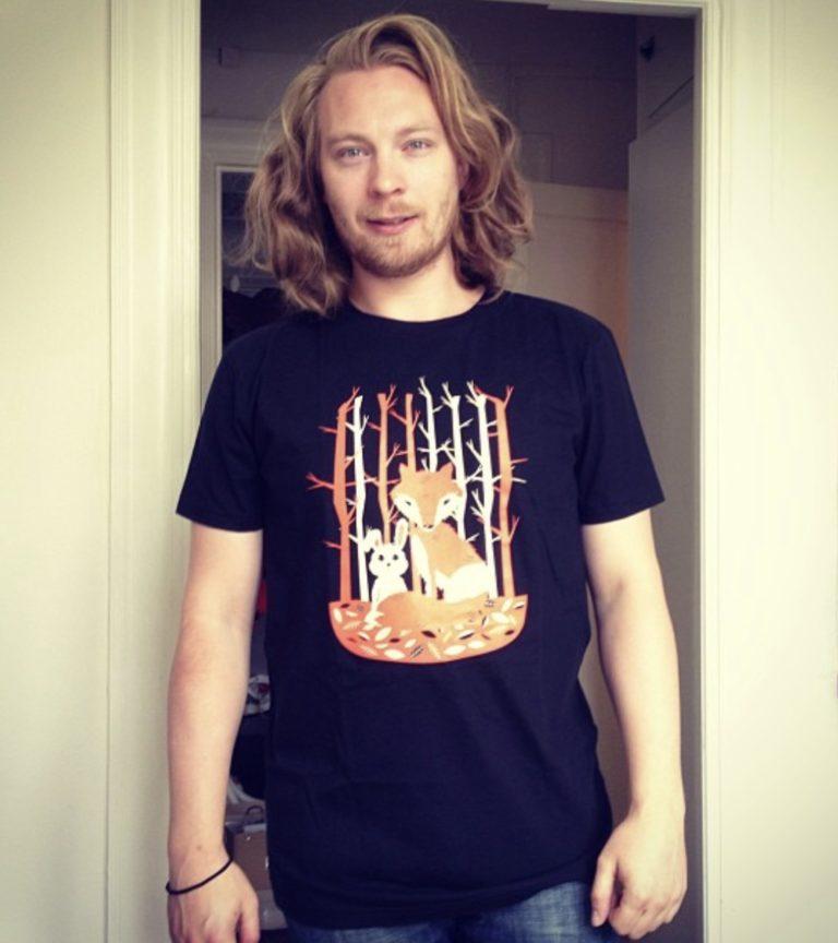 Jenni's Prints - I Love you Bunny, shirt - Illustration