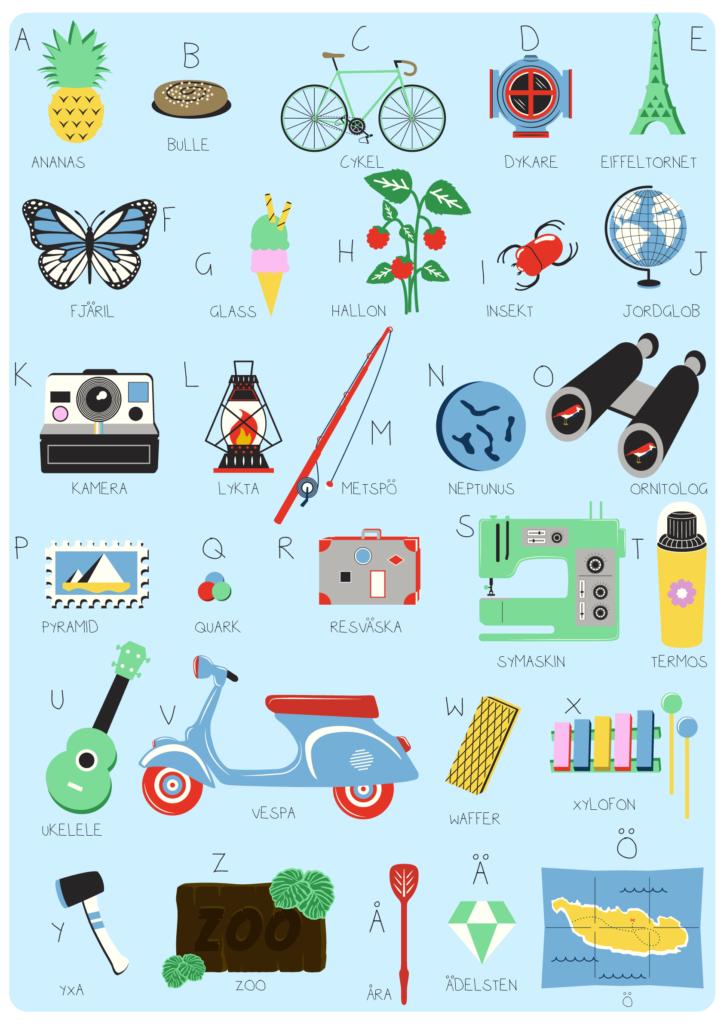 Jenni's Prints - Scandi ABC - Illustration