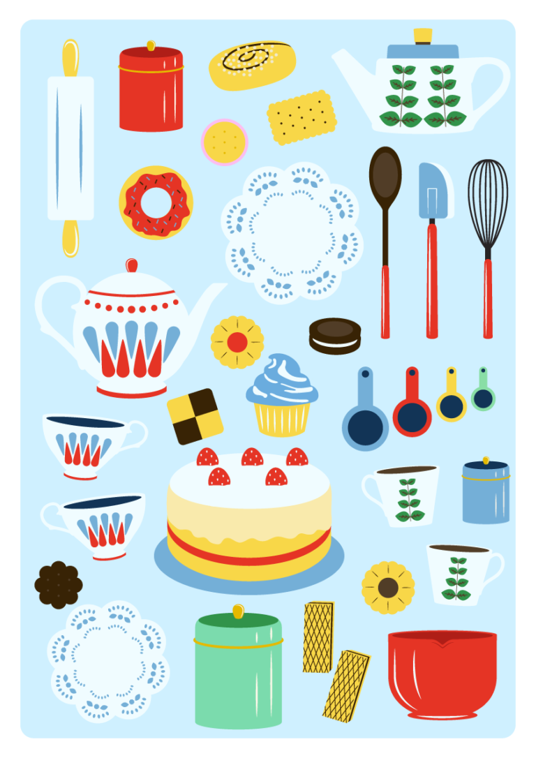 Jenni's Prints - Scandi Baking - Illustration