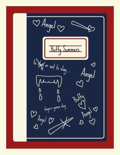 Jenni's Prints - Buffy - Notebook - Illustration