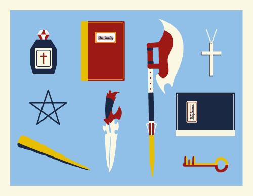 Jenni's Prints - Buffy - Weapons - Illustration