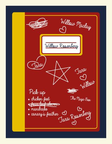 Jenni's Prints - Buffy - Willow notebook - Illustration