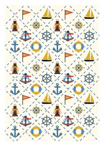 Jenni's Prints - Moonrise Kingdom - Quilt - Illustration